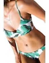 【インポート水着】【ポタニカル】クロス水着【ビキニ水着】グリーン【緑】 cc410137