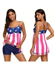 【インポート水着】【米国旗】フリンジ裾【ベアトップ水着】スカート水着 cc410326