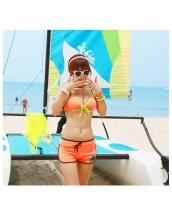 【即納】TKM-n4311-f お急ぎ【水着】ビキニ&ショートパンツセット-【カラー:オレンジ】-【サイズ:M】