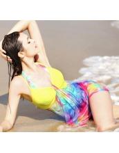 【即納】TKM-yd0425-お急ぎ☆カラフル・ビーチ・キャミワンピ-【カラー:F1】-【サイズ:S/M】